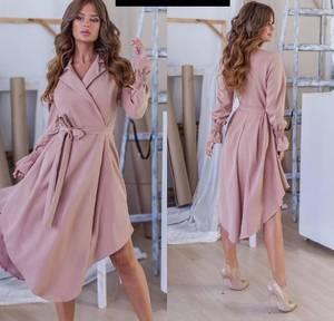 Платье длинное однотонное Я6561