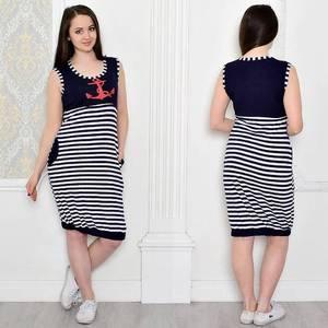 Платье короткое повседневное с принтом Т0459