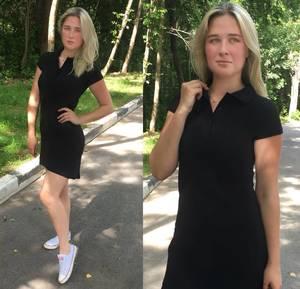 Платье короткое повседневное черное Т7132