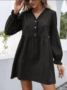 Платье короткое с длинным рукавом А48309