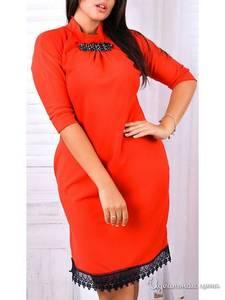 Платье короткое нарядное красное У8091