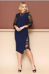 Платье короткое нарядное с кружевом Ф9362