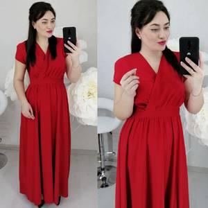 Платье длинное однотонное Ц6466