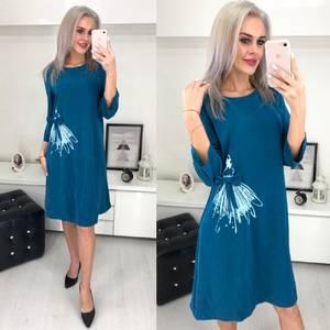 Платье короткое с принтом Ш6198