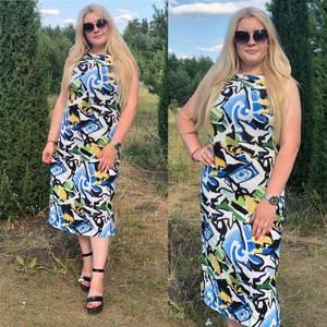 Платье длинное летнее Ч4377