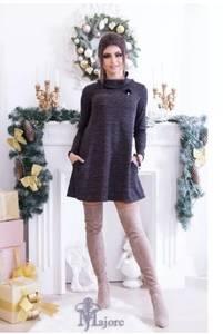 Платье повседневное трикотажное с длинным рукавом короткое Ш9130