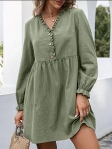 Платье короткое с длинным рукавом А48310
