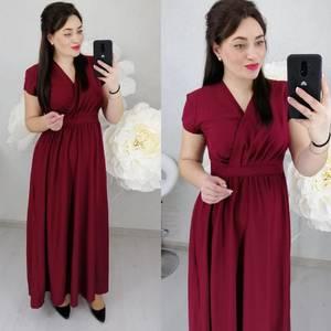 Платье длинное однотонное Ц6467