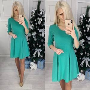Платье короткое с рукавом 3/4 современное Ф8829