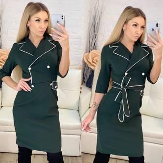 Платье короткое с рукавом 3/4 элегантное Ф9552