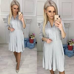 Платье короткое нарядное с рукавом 3/4 Ф9556