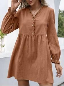 Платье короткое с длинным рукавом А48311