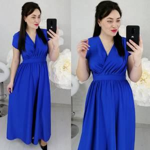 Платье длинное однотонное Ц6468