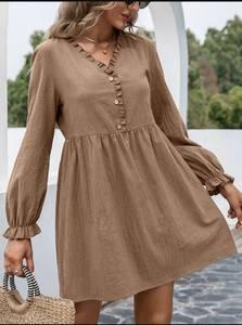 Платье короткое с длинным рукавом А48312