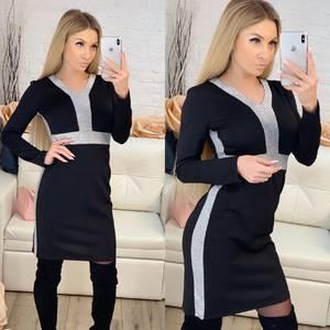 Платье короткое с длинным рукавом современное Ф8805