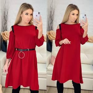 Платье короткое с рукавом 3/4 современное Ф8807