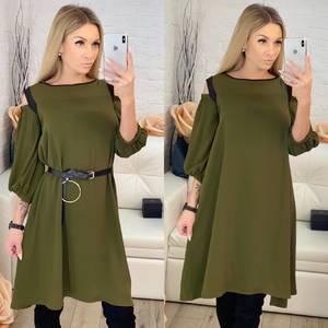 Платье короткое с рукавом 3/4 современное Ф8808