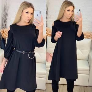 Платье короткое с рукавом 3/4 современное Ф8809
