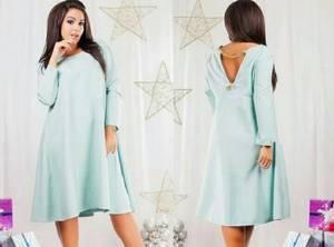 Платье короткое нарядное однотонное Т7920