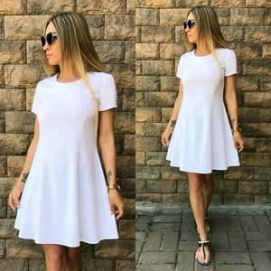 Платье короткое повседневное белое У7455