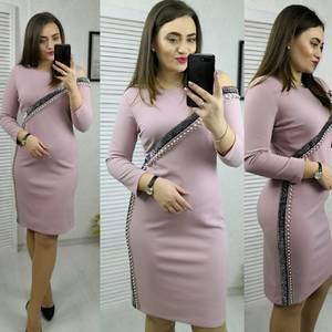 Платье короткое с рукавом 3/4 современное Х8322