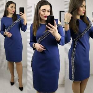 Платье короткое с рукавом 3/4 современное Х8324