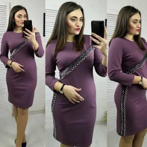 Платье короткое с рукавом 3/4 современное Х8325
