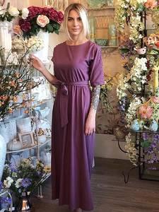 Платье длинное однотонное нарядное Х5330