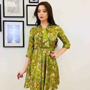 Платье короткое с рукавом 3/4 с принтом Х5319