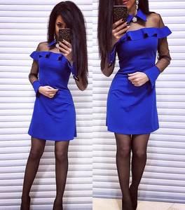 Платье короткое с длинным рукавом элегантное Х0468