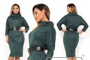 Платье короткое нарядное зеленое Х0871