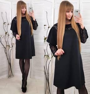 Платье короткое нарядное черное Х0853
