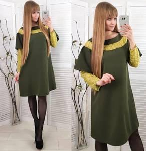 Платье короткое нарядное зеленое Х0852