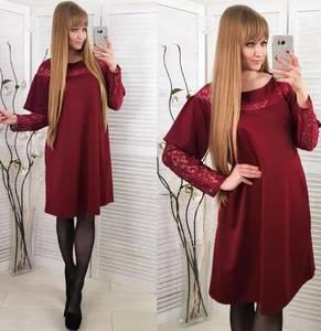 Платье короткое нарядное красное Х0851