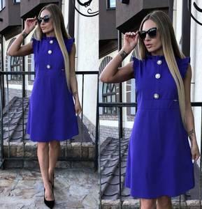 Платье короткое нарядное синее Т8596
