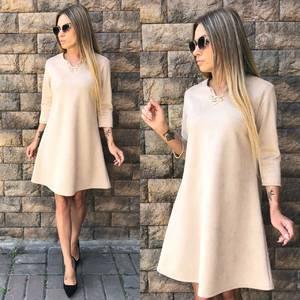Платье короткое однотонное современное У0348