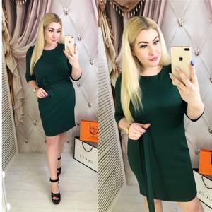 Платье короткое однотонное Я2512