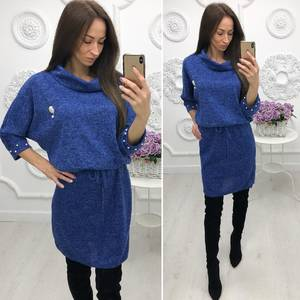Платье короткое трикотажное однотонное Ф4650