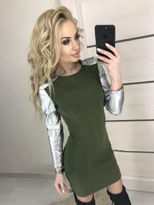Платье короткое с рукавом 3/4 облегающее Ф9082
