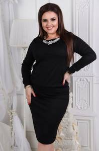 Платье короткое с длинным рукавом облегающее Ф6329