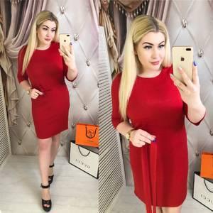 Платье короткое однотонное Я2509