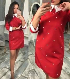 Платье короткое с рукавом 3/4 современное Ф7995