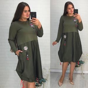 Платье короткое повседневное Ф1894