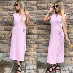 Платье длинное розовое классическое У0807