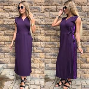 Платье длинное однотонное классическое У0808