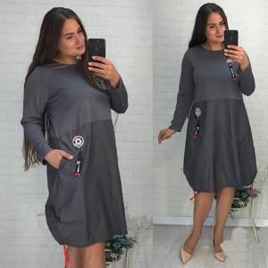 Платье короткое повседневное Ф1895