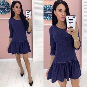 Платье короткое однотонное А01933