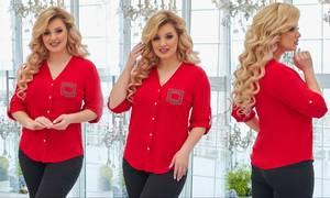 Рубашка однотонная А25911
