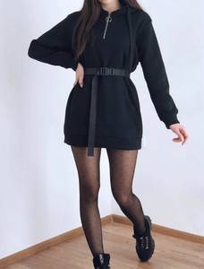 Платье короткое черное А10420