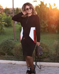 Платье короткое с длинным рукавом А10481